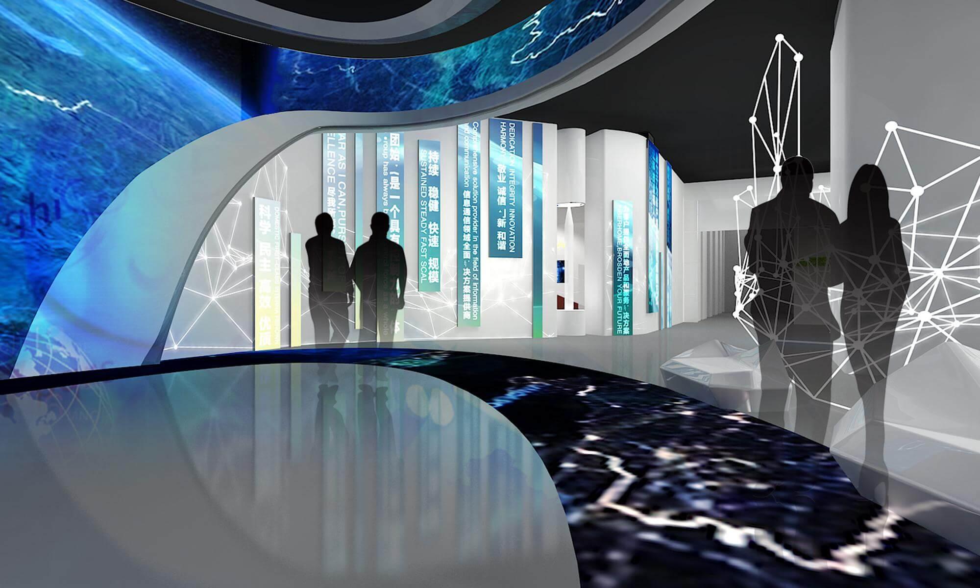 赛凡最新企业展厅设计作品鉴赏—烽火科技