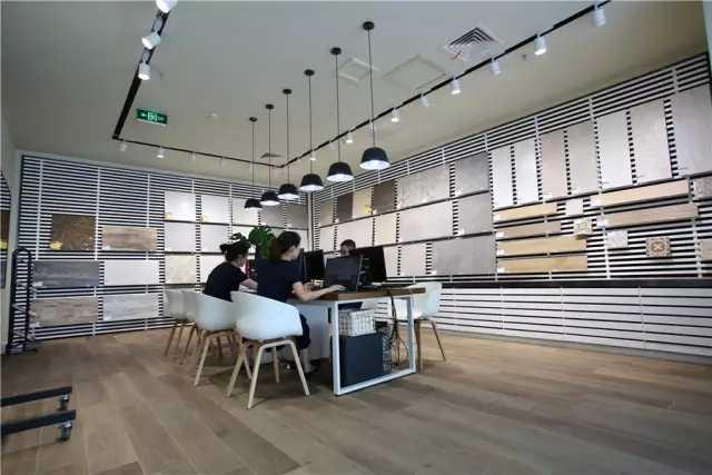 兴辉瓷砖现代轻奢中国旗舰店-展厅设计|企业展厅|展厅